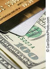 kredit, schließen, karte, auf