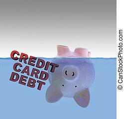 kredit, schuld, karte