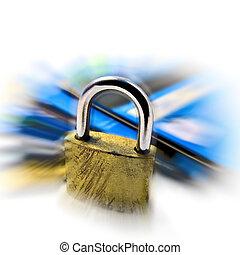 kredit, sicherheit, sicherheit, karte, stift