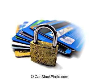 kredit, sicherheit, sicherheit, karte