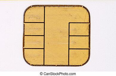 kredit, span, gebraucht, karte, mikro