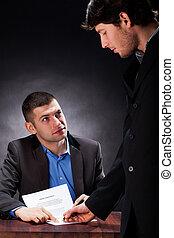 kredit, unterzeichnung, abkommen