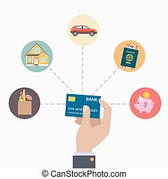 kredit, zahlung, card.