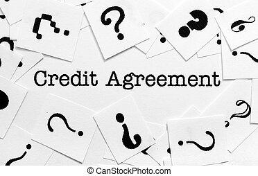 kreditera, överenskommelse