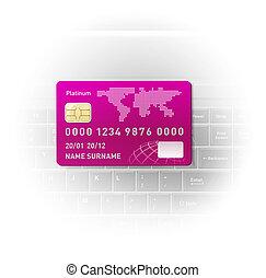 kreditera, anteckningsbok, kort