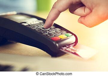 kreditera, betalning, kort