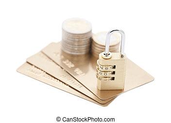 kreditera, säkerhet, betalning, kort
