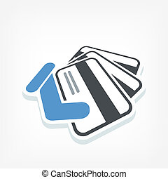 kreditkarte, etikett