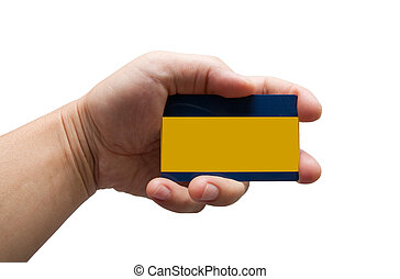 kreditkarte, hand