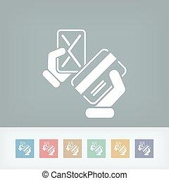 kreditkarte, ikone