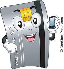 kreditkarte, maskottchen