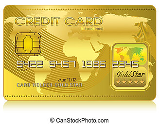 kreditkarte, (vector)