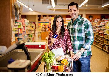 kreditkort, lager, användande