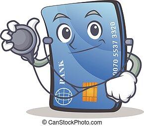 kredyt, litera, rysunek, karta, doktor
