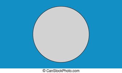 kreis, gegen, blauer hintergrund