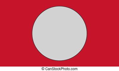 kreis, gegen, roter hintergrund