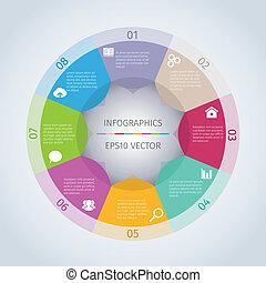kreis, infographic, modern