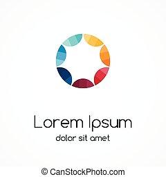 kreis, logo, template., abstrakt, zeichen, symbol.