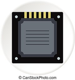 kreis, multicore, modern, cpu, ikone