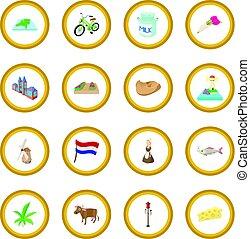 kreis, niederlande, ikone