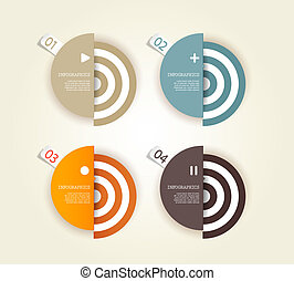 kreise, eigen, gefärbt, text., vier, papier, ort, dein