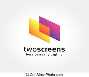 kreise, gefärbt, brandmarken, abstrakt, logotype, vektor, schablone, logo, concept., ikone