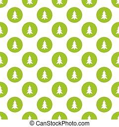 kreise, muster, seamless, bäume, grün, weihnachten