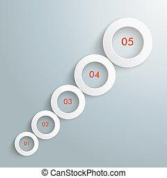 kreise, optionen, wachstum, piad, infographic, 5