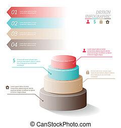 kreise, web, form, geschaeftswelt, oder, vektor, fünf, infographics, design, stadien, template., illustration.