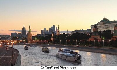 kreml, moskwa, prospekt, rosja, noc