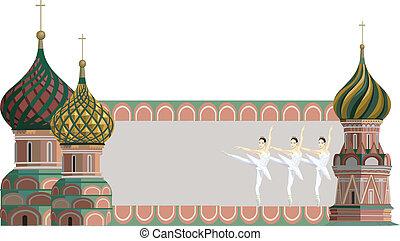 kremlin, タワー, そして, バレリーナ