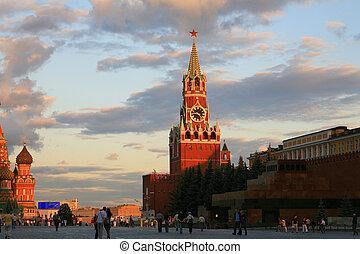 kremlin at evening