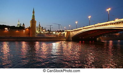 Kremlin (at night),  Moscow, Russia