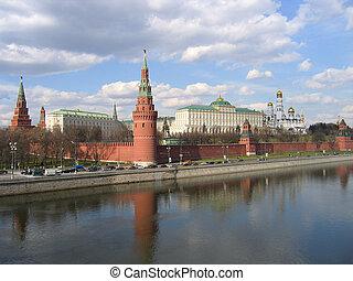 kremlin, en, moscow., russia.