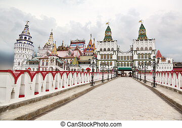 Kremlin in Izmailovo Moscow general view russian national architecture