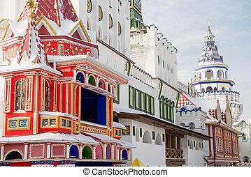KREMLIN IN IZMAILOVO - Moscow, Russia - January 2013. The...