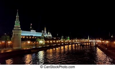 Kremlin in Moscow night view