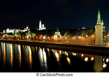 Kremlin in the city Moscow