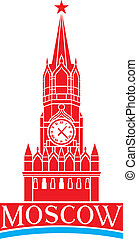 kremlin, moscú, torre, reloj
