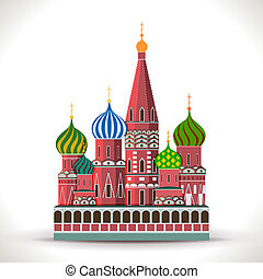 Kremlin, Moscow isolated on white. Vector Illustration....