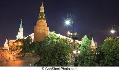 Kremlin night timelapse