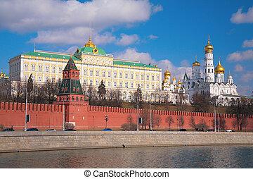 kremlin, paleis, en, kerken