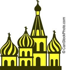 Kremlin silhouetta, famous landmark of the world