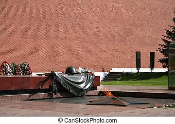kremlin., soldado, 3, tumba, desconocido