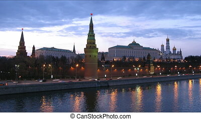 Kremlin sunset time lapse