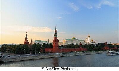 Kremlin sunset timelapse