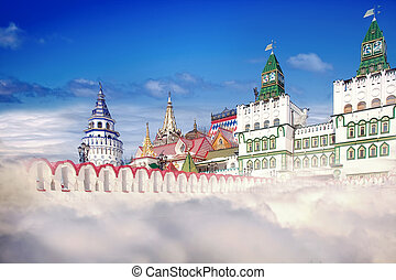 Kremlin, the collage - Complex of the modern building built...