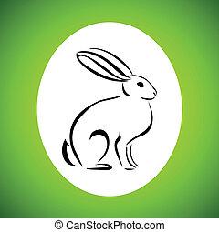 kreskówka, królik