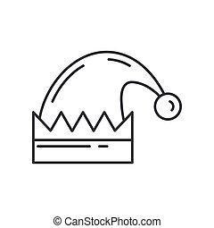 kreska, boże narodzenie, santas, święto, icon., ferie, partia, tło., ilustracja, boże narodzenie, karnawał, zima, modny, dzieci, wektor, ozdoba, happiness., vintage., korona, wypadek, element, futro, linearny, tradycyjny