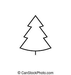 kreska, drzewo, christmass, ikona
